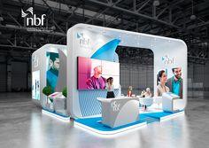 NBF , exhibition stand, Careers UAE Dubai on Behance Exhibition Stall Design, Exhibition Stands, Exhibit Design, Exhibition Ideas, Stand Design, Display Design, Dubai, Stand Feria, Wedding Art