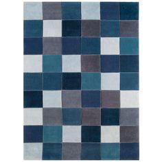 Gefunden bei Wayfair.de - Handgetufteter Teppich Eden in Blau