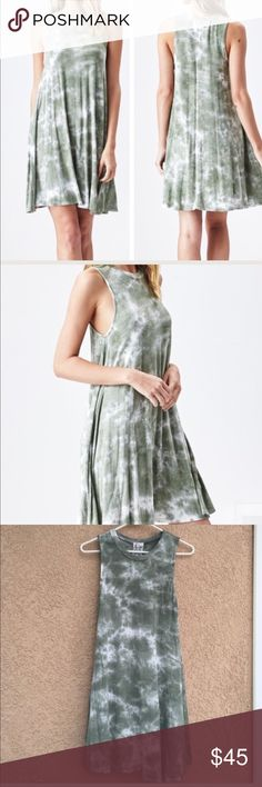 "Sadie & Sage Tie Dye Dress Swinging dress with a soft stretchy feel designed and made in California  95% Rayon/5% Spandex.   Runs true to size. Approximate length 32""  Trades ✅Bundle and save Sadie & Sage Dresses"