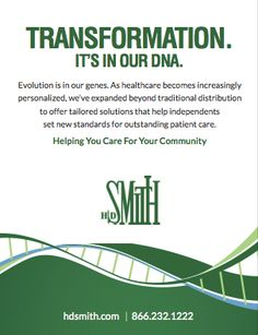 Evolution is in our genes. As healthcare becomes increasingly personalized, we've expanded beyond traditional distribution to offer tailored solutions that help independents set new standards for outstanding patient care.  (As seen in the 2014 Pharmacy Platinum Pages Buyer's Guide: rxplatinumpages.com)