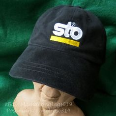 9b888f9b83b04 Vtg Sto Logo Construction Building Strapback Hat Cap Headshots KC Caps