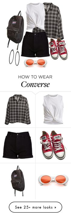 """""""Untitled #3028"""" by kitten89 on Polyvore featuring H&M, Vila Milano, Converse and JanSport"""