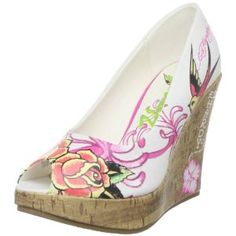 Click on the image for more details! - Ed Hardy Women's Coralie Wedge Pump (Apparel)