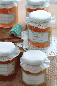 Pears jam with spices for the Christmas market Spiced Pear Jam Recipe, Jar Of Jam, Homemade Pastries, Midnight Snacks, Jam And Jelly, Fruit Jam, Delicious Breakfast Recipes, Jam Recipes, Canning Recipes