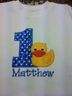 Rubber Ducky Birthday Shirt by KidsSewCute on Etsy, $20.00