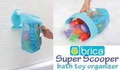 Super Scoop Bath Toy Organizer - scoop up bath toys & hang them to dry in the mesh basket that prevents mildew - via PreSchoolShop.com
