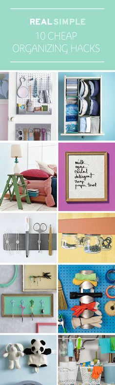 Create order out of chaos with creative, low-cost—or, even better, no-cost!—DIY organizing ideas.