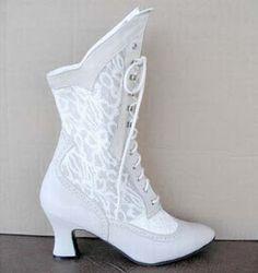Winter wedding bridal boots
