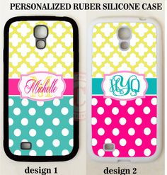 PINK TEAL POLKA DOTS YELLOW MOROCCAN MONOGRAM Case For Samsung Galaxy S7 S6 NOTE #UnbrandedGeneric