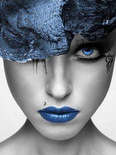 The color blue....