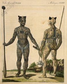 Indigènes de Nuku Hiva avec tatouages
