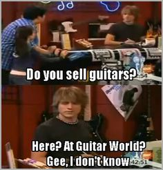 Music Humor | Do you sell guitars here?