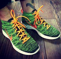 nike flyknit chukka green black orange 570x553 Nike Flyknit Chukka Green Black Orange