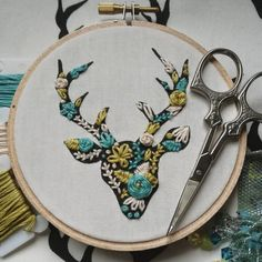 Buck Forest Stag, Embroidered!