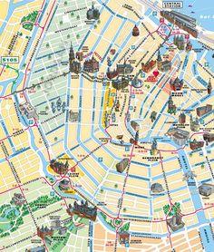 Mappa turistica di Amsterdam - Cartina turistica di Amsterdam