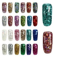 24 Colors Shining Diamond Extend UV Gel Extension Nail Art Glue Manicure