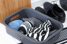 Grey SmartStore Basket with bamboo lid