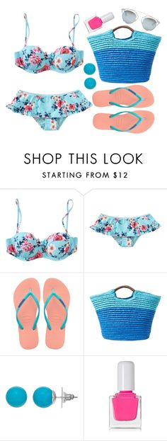 """""""Untitled #4040"""" by natalyasidunova ❤ liked on Polyvore featuring Seafolly, Havaianas, Alex + Alex, tenoverten and Christian Dior"""