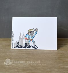 Lostinpaper - Paper Smooches - - Super / Kudos - Altenew -  Birthday Greetings - Handsome Cartoon (video)