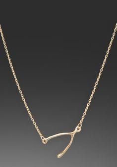 BELLE NOEL  Wishbone Side Station Necklace