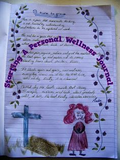 Starting Your Own Wellness Journal 1 Emotional Healing, Art Therapy, Arts And Crafts, Wellness, Journal, Create, Blog, Blogging, Art And Craft
