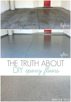 Away She Went: The Truth About DIY Epoxy Floors - Kitchen Decor and More - . - Epoxy - Welcome Haar Design Epoxy Floor Diy, Epoxy Floor Basement, Diy Epoxy, Porch Flooring, Diy Flooring, Kitchen Flooring, Concrete Patio, Concrete Floors, Epoxy Concrete
