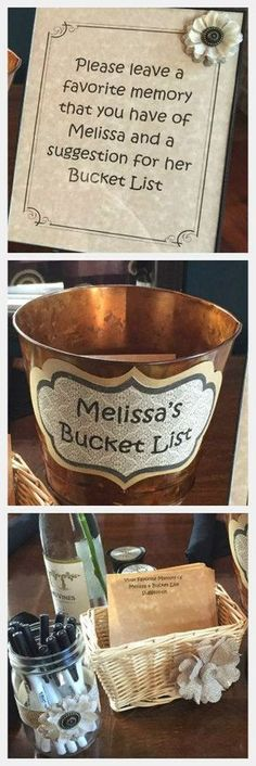 """Great idea for a Retirement Party.  Have guests fill out the slips and it serves as a sort of """"Guest Book"""". It also is a way to say something nice to the retiree!"""