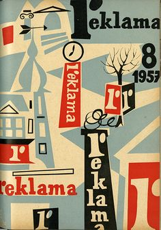 Czech national advertising design magazine, Reklama 1957