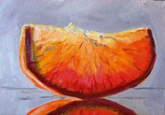 Fruit Still Life Oil Painting Orange Citrus by smallimpressions