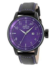 Invicta 19615 Men's S1 Rally Black Genuine Leather Purple... https://www.amazon.com/dp/B01N98AM3L/ref=cm_sw_r_pi_dp_x_KTktybM6GR8BT
