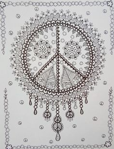 Shop for on Etsy, the place to express your creativity through the buying and selling of handmade and vintage goods. Coloring Pages For Grown Ups, Colouring Pages, Adult Coloring Pages, Coloring Books, Budget Sheets, Hippie Love, Printable Coloring, Colorful Pictures, Tattoo Inspiration