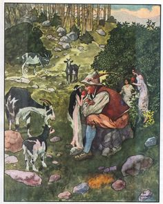Artuš Scheiner - Illustration for Fairy Tales by K.J. Erben