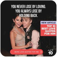 Top 10 Best Romantic Love Quotes for Him Featuring Justin Bieber and Selena Gomez Justin Bieber Selena Gomez, Love Justin Bieber, Love Quotes For Him Romantic, Best Love Quotes, Joy And Sadness, Guard Your Heart, Finding True Love, Strong Relationship, Funny Love
