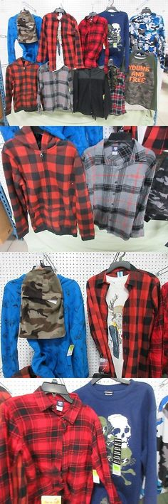 Mixed Items and Lots 15620: 12 Youth Boys Xl 14-16 Clothing Route 66 Flannel Pj Jacket Outfit Lots Joe Boxer -> BUY IT NOW ONLY: $57 on eBay!
