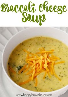 This easy Broccoli Cheese Soup recipe using real food ingredients--not processed food. This homemade soup rivals that of Panera and you can make it at home! Perfect for a cold weather day when all you want is comfort food.