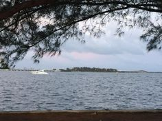 Coconut Grove Bay overlooking Key Biscayne and Brickell