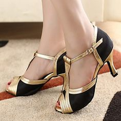 satén de las mujeres de moda a medida y zapatos de baile de cuero sintético superior – USD $ 23.79