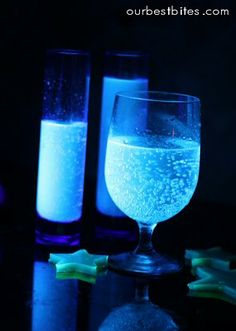 Awesome Halloween Ideas like glowing drinks!