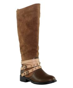 Look at this OLIVIA MILLER Brown Rivington Riding Boot on #zulily today!