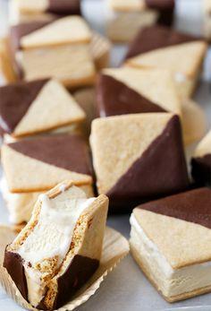 chocolateguru:  Chocolate-Dipped S'Mores Ice Cream Sandwiches