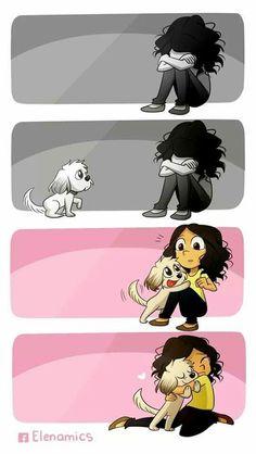 """""""Un animal, sea cual sea su especie, nos alegra la vida entera"""" Hay que cuidarlos!!!"""
