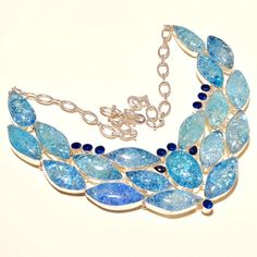 Chokers – 925 Sterling Silver Blue Crystal Necklace – a unique product by IndianCraftPalace on DaWanda