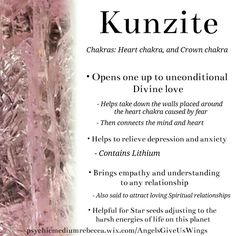 Kunzite crystal meaning