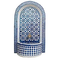 Front planter - Moroccan fountain