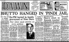 Old Newspapers: Daily Dawn, April 5, 1979. Zulfikar Ali Bhutto hanged on 4 April 1979 - Rare newspapers about Pakistan