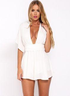 White Mini Dress----------------------------Khaki White Dark Blue Polyester Solid Half Sleeve Mini Dresses