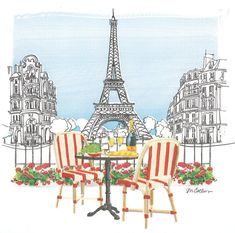 20 Servietten Serviette Paris City of love