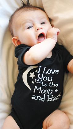 Perfect Gender Neutral!! I love you to the by LittleAdamandEve, $14.99