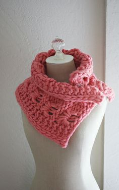 Loupe Cowl / Neckwarmer by Brenda Lavell, Phydeaux Designs Knit Cowl, Knit Crochet, Knitted Cowls, Knitting Patterns, Crochet Patterns, Super Bulky Yarn, Neck Warmer, Wraps, Stylish