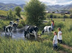Country Life card set - Cow Art and More - 1